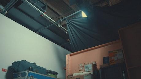 Professional audiovisual equipment behind the scenes