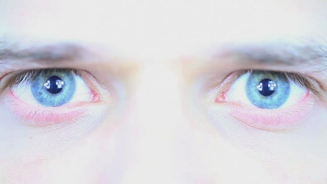 Pupils dilate in a person's gaze
