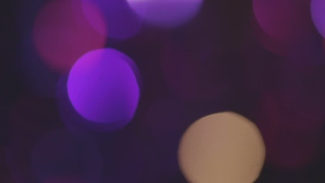 Purple and pink lights with bokeh effect