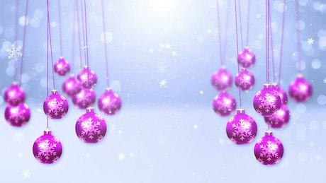 Purple spheres in the snow