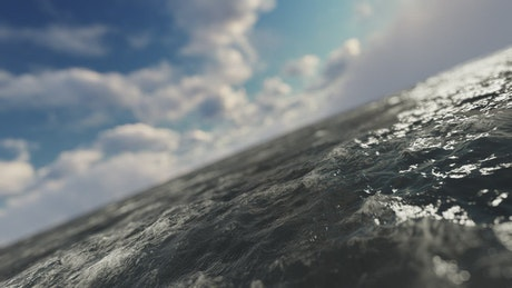 Quick trip over the sea generated by CGI