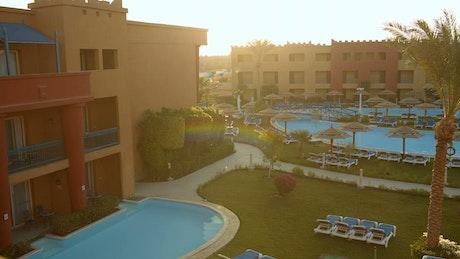 Quiet evening at a hotel