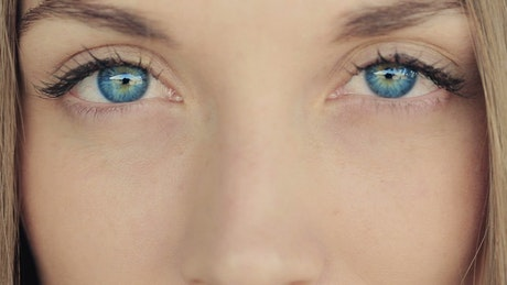 Radiant blue eyes of a woman