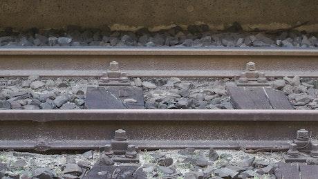 Rails, close up
