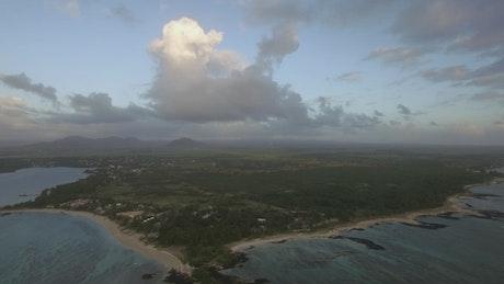 Rain heading over the island