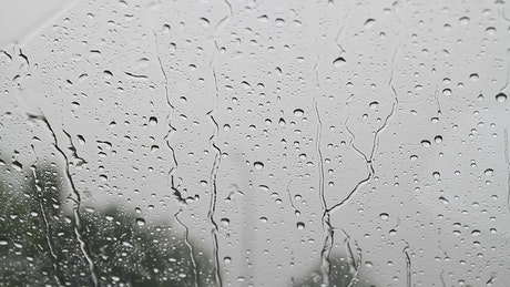 Rain hitting a window