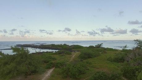Reaching the edge of Mauritius Island