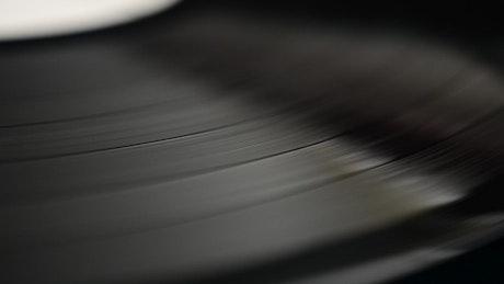 Record spinning around