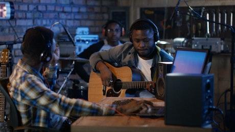 Recording instruments at home studio