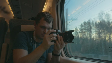 Recording through the train window