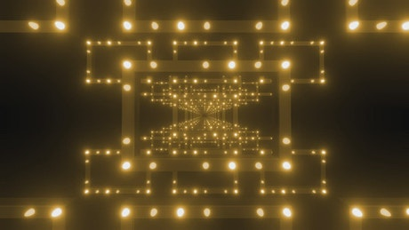 Rectangular frames with orange light spots
