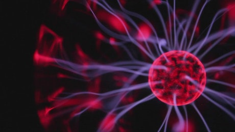 Red electric ball