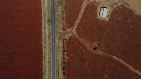 Red ground agriculture fields