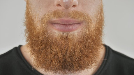 Red-haired man with a beard smiling
