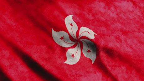 Red Hong Kong flag