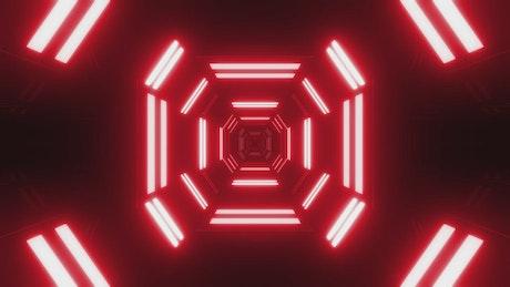 Red neon futuristic tunnel