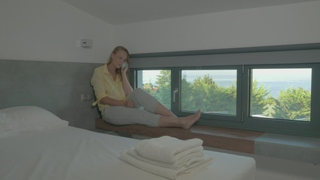 Relaxing in a luxury apartment
