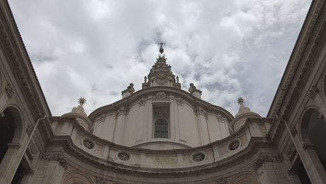 Religious roman building and the sky