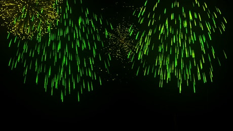 Render fireworks in the sky