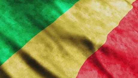 Republic of Congo 3D flag