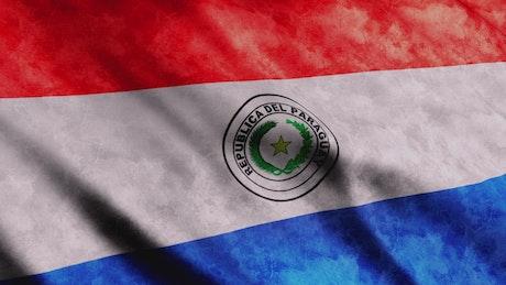 Republica del Paraguay flag waving