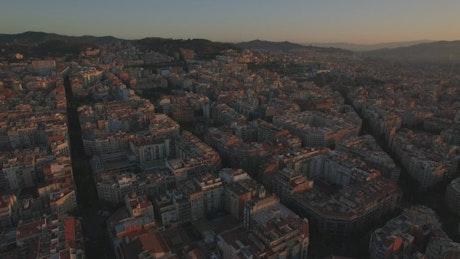 Residential blocks in Barcelona