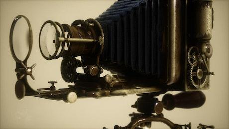 Retro camera with a flash