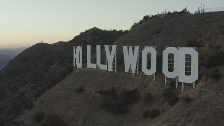 Revealing the city of LA from the Hollywood sign