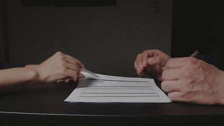 Reviewing a job application