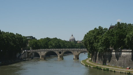 River and bridge in Rome