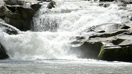 River cascading over rocks