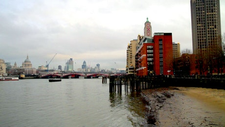 River crossing the City of London