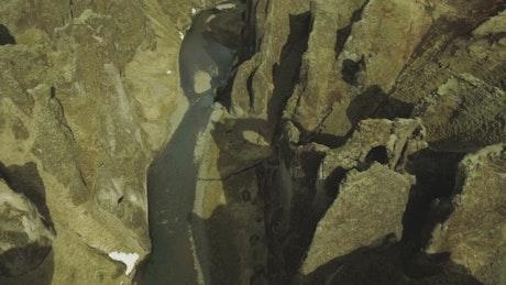River cutting through a canyon