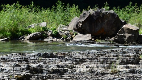 River over rock formations