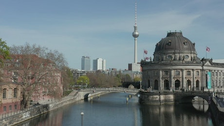 River through the city of Berlin