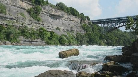 River under a bridge