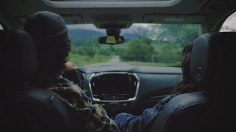 Road trip as a couple aboard a van