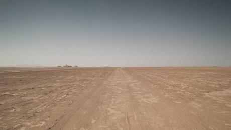 Roading through the desert