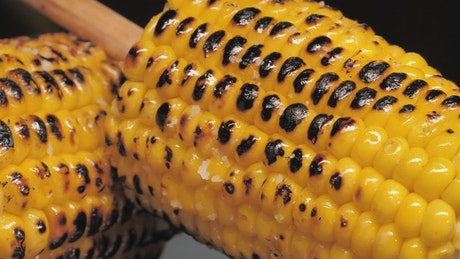 Roasted corn with a stick