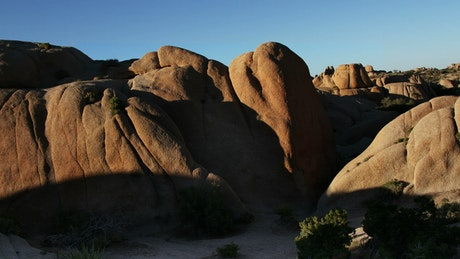 Rock formation in the desert