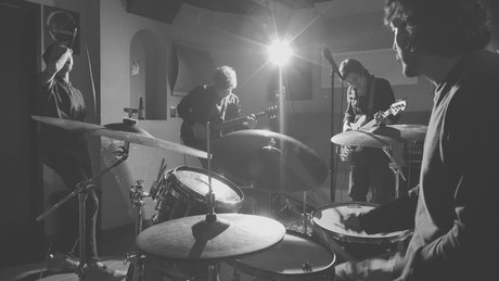 Rockers rehearsing