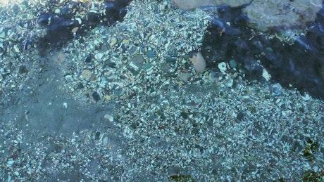 Rocks underwater, background video