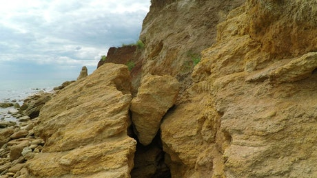 Rocky cliff and the sea