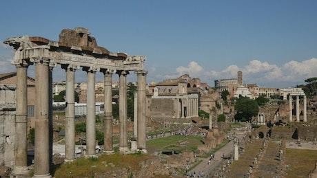 Roman Forum ruins in Italy