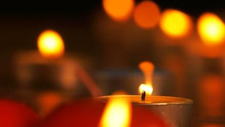 Romantic candles, shallow focus effect