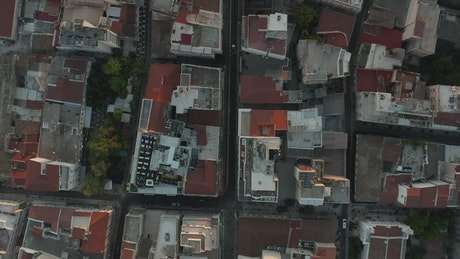 Roofs of a neighborhood in the city