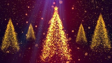 Rotating Christmas Trees of Luminous Particles