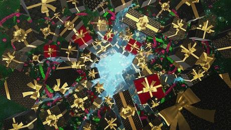 Rotating Floating Christmas Gift Tunnel
