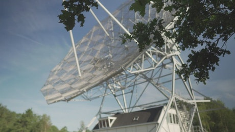Rotating radio telescope in the wood