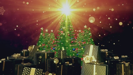 Rotating stage with christmas concept, 3D render